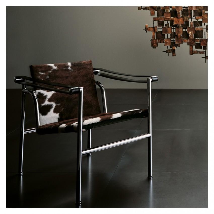LC1 Armchair Black Hairyskin & Chrome