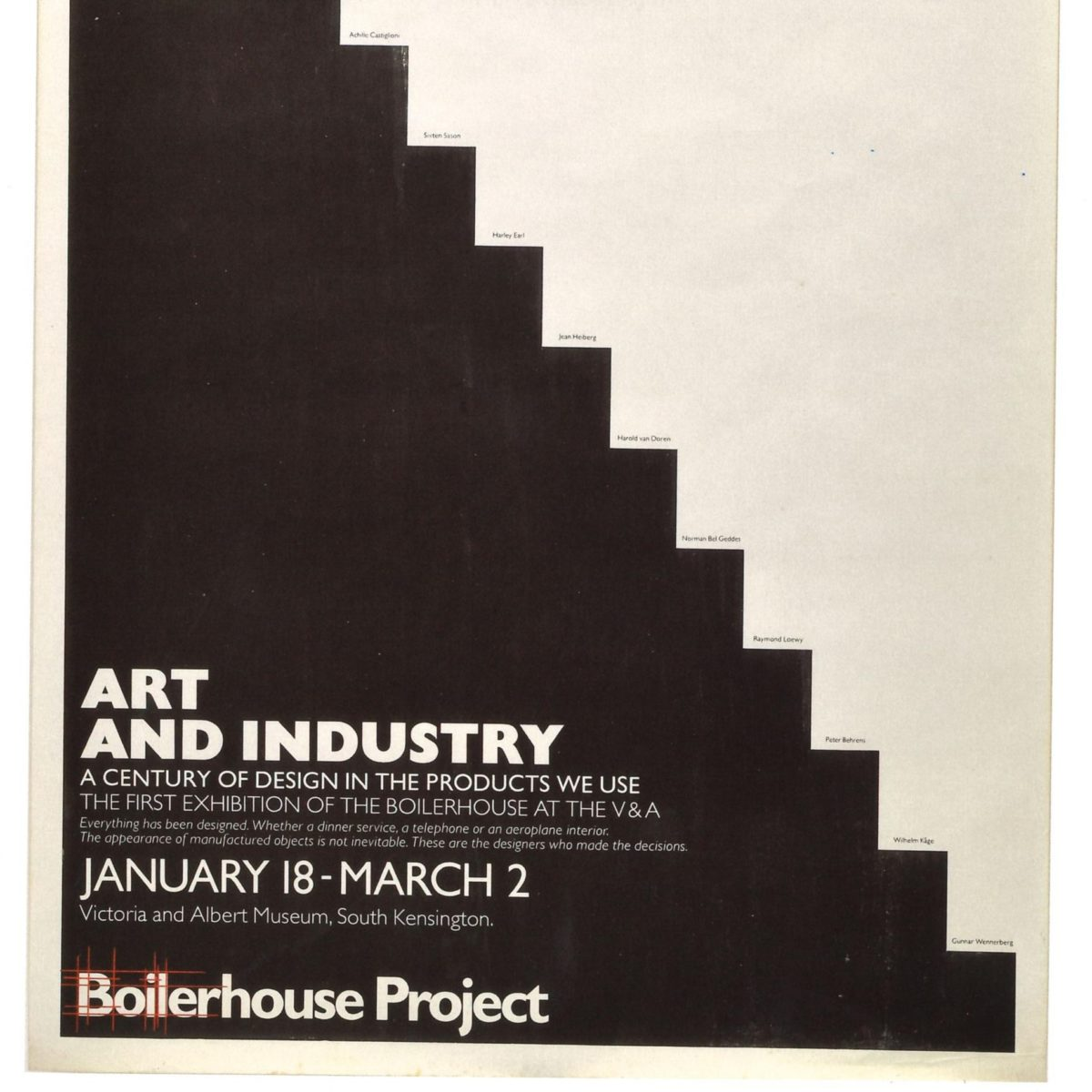 nvitation from the Conran Foundation and its debut initiative The Boilerhouse. Source: My Life In Design   About Us 1980s