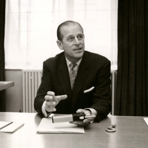 Prince Philip judging the Prince Philip Designers Prize. Image via Design Council | About us 2000s